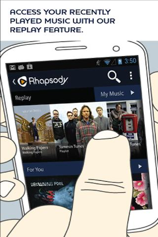 b3 Rhapsody rolls out a brand new Android app with Replay feature, suggesting songs based on time and day