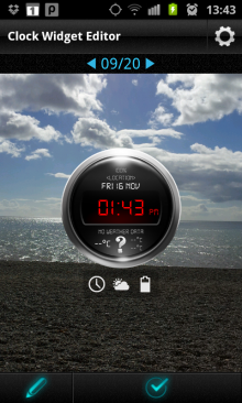 c7 220x366 Beautiful Clock Widgets brings delicious digital timepieces to Android