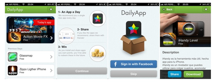 dailyapp appdiaria screenshots AppDiaria reaches 150,000 downloads, confirms Latin Americas appetite for app discovery