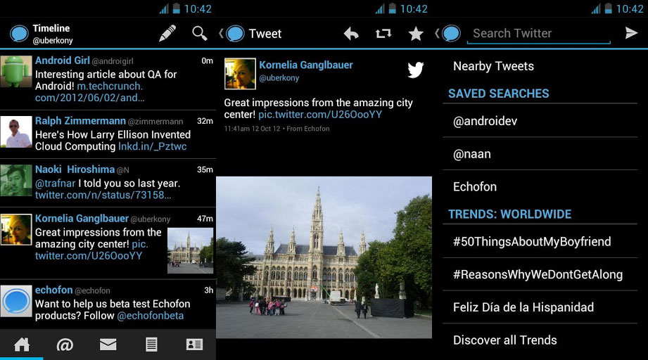 echofon Echofon brings its popular Twitter client to Android