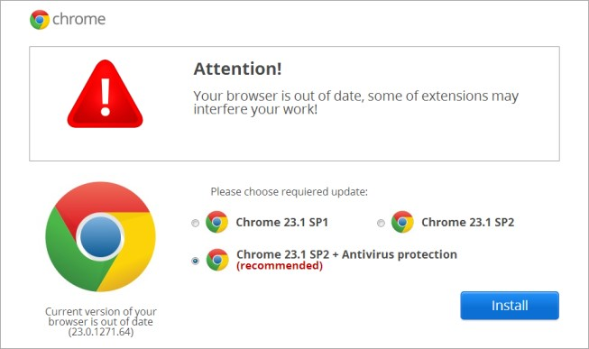 fakebrowserupdates3 Popups push malware using warnings for fake Chrome, Firefox, IE, and even iPhone updates