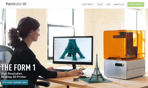 form labs site 520x312 The Rise of 3D Printing