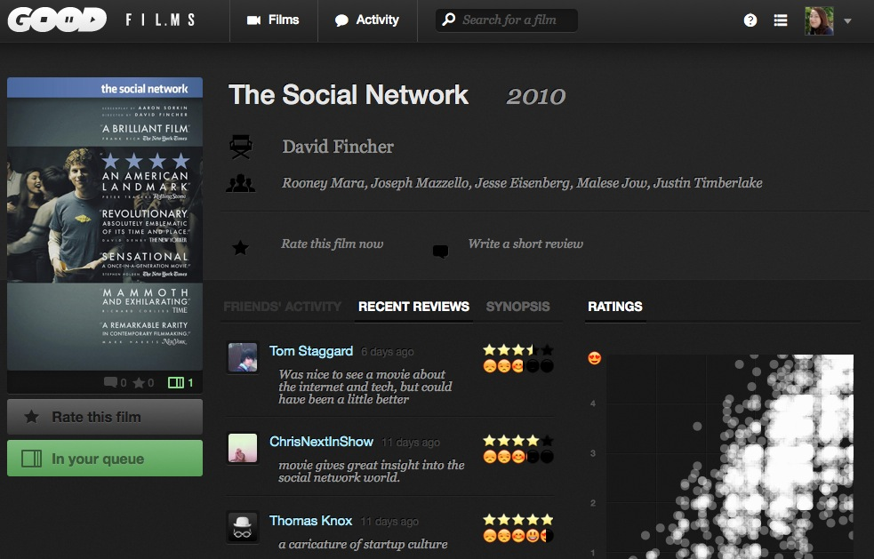 goodfilms the social network Goodfilms hopes to help you find movies youll want to watch again and again