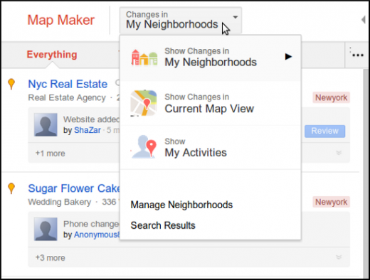 google map maker activity stream 520x394 Google Map Maker gets an Activity Stream to keep users informed of changes in their neighborhood