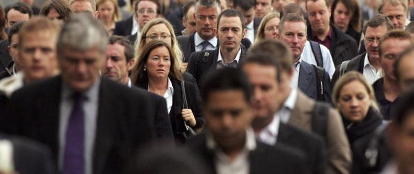 Commuters Flock To Work In The City Of London