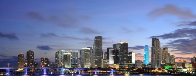 miami at dusk via pond5
