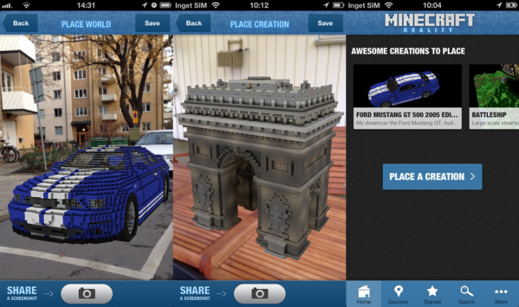 minecraft reality 730x432 Minecraft Reality app arrives for iOS, brings your creations into the real world for others to find
