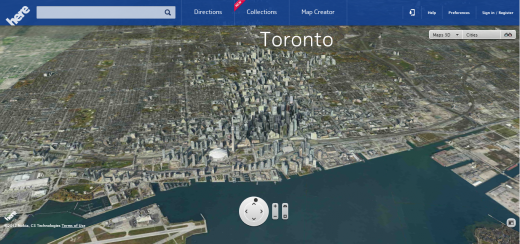 nokia here toronto 520x244 Nokia acquires 3D mapping company Earthmine to beef up new Here mapping service