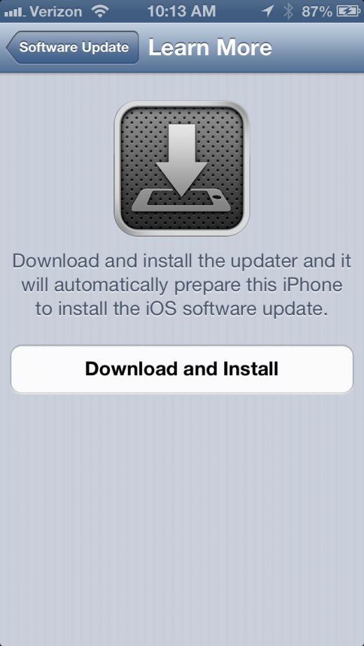photo 2 520x923 Apple releases iOS 6.0.1, bringing fix for iPhone 5 OTA updates, keyboard glitches, WiFi performance and more