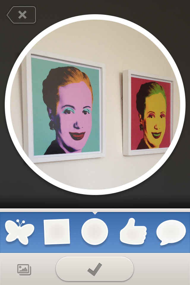 photofun evita roll Moviles new mobile app PhotoFun lets you share customized pictures with your friends