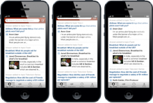 quora interface update 220x149 44 best mobile apps and tools for marketers: How to manage social media from anywhere