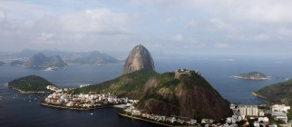 Aerial view of the Sugar Loaf Montain in