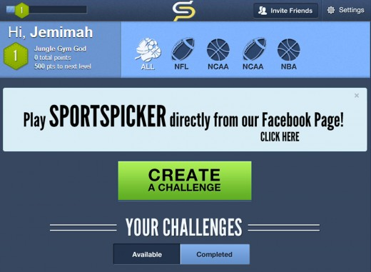 sportspicker on facebook1 520x381 OHK Labs releases Sports Pick'Em for brands, the white label version of SportsPicker Challenge