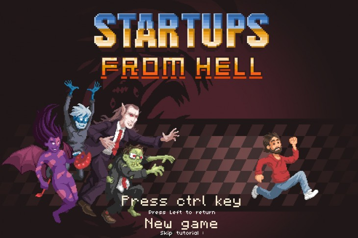 startups screen 730x486 Startups from Hell: Battle zombies and bank managers in this cute 16 bit browser game