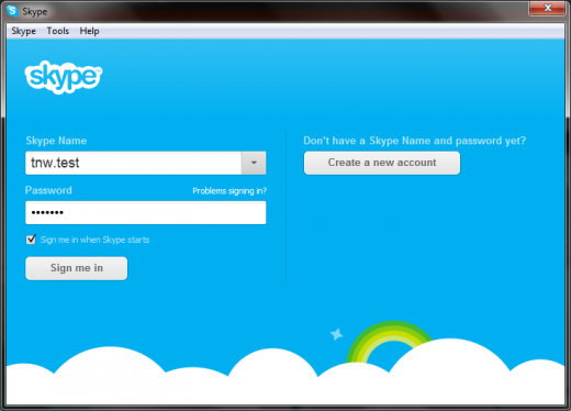 tnwtest 520x374 Security hole allows anyone to hijack your Skype account using only your email address (updated)