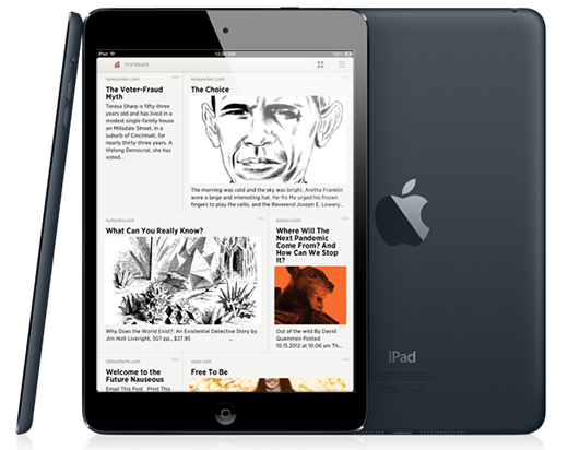 top reads ipad mini 01 Readability introduces Grid View, an enhanced reading layout for iPad users