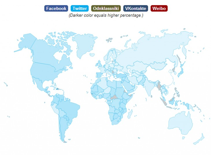 twitter opera map 730x535 Operas State of the Mobile Web report shows Facebooks still stomping the competition