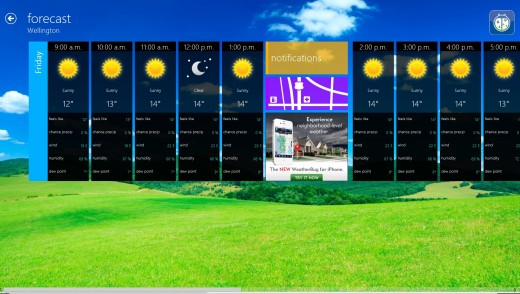 weatherbug 520x294 25 inspiring Windows 8 app designs