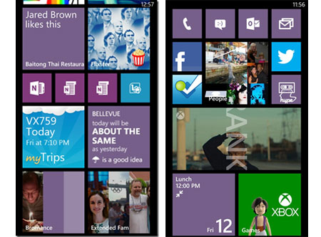 windowsphone startscreen example Microsoft reveals creative insights behind the design of Windows Phone 8s start screen