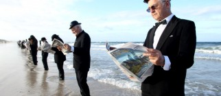 Human Sculpture Created At Henley Beach