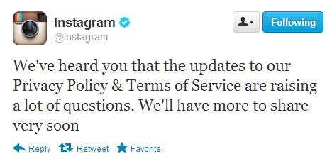 "2012 12 18 12h33 101 Instagram acknowledges user angst over its new TOS, promises to share more ""soon"""