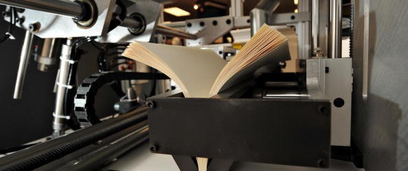 A test print book is produced