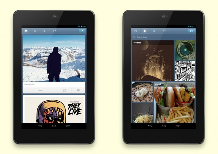 Android press dashboard horz 730x517 Tumblr for Android adds support for tablets, as the wait continues for iPad owners