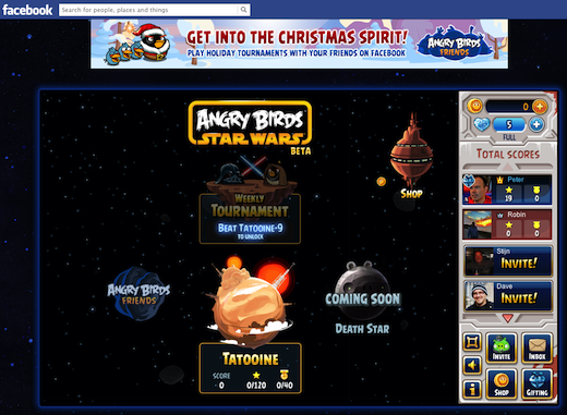 Angry Birds Star Wars on Facebook 092815 Rovio launches Angry Birds Star Wars beta on Facebook, hasnt yet told its 22.6 million fans
