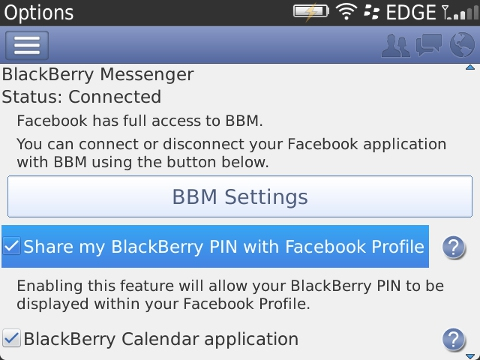 B Facebooks BlackBerry app now lets you discover BBM friends and start a BBM chat