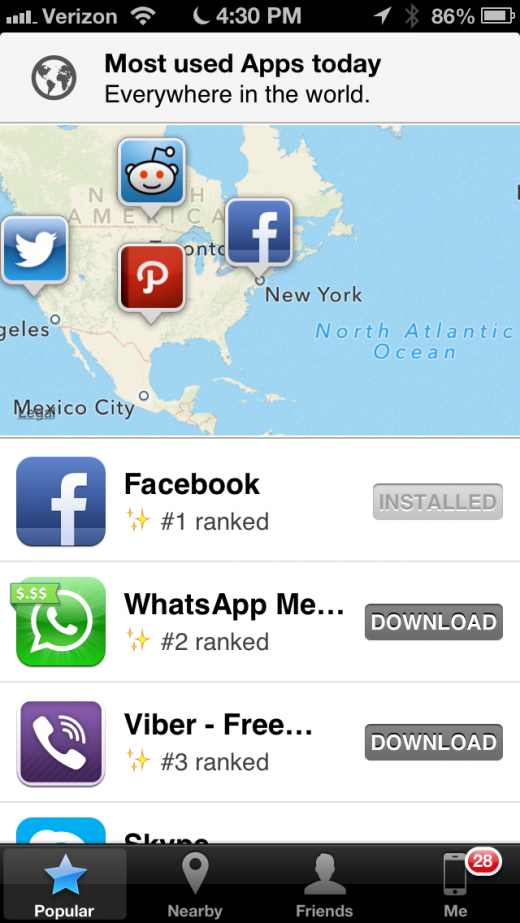 IMG 0570 520x923 App Map for iOS now lets you see what apps your friends use, as well as people around you