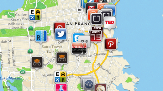 IMG 0571 520x292 App Map for iOS now lets you see what apps your friends use, as well as people around you
