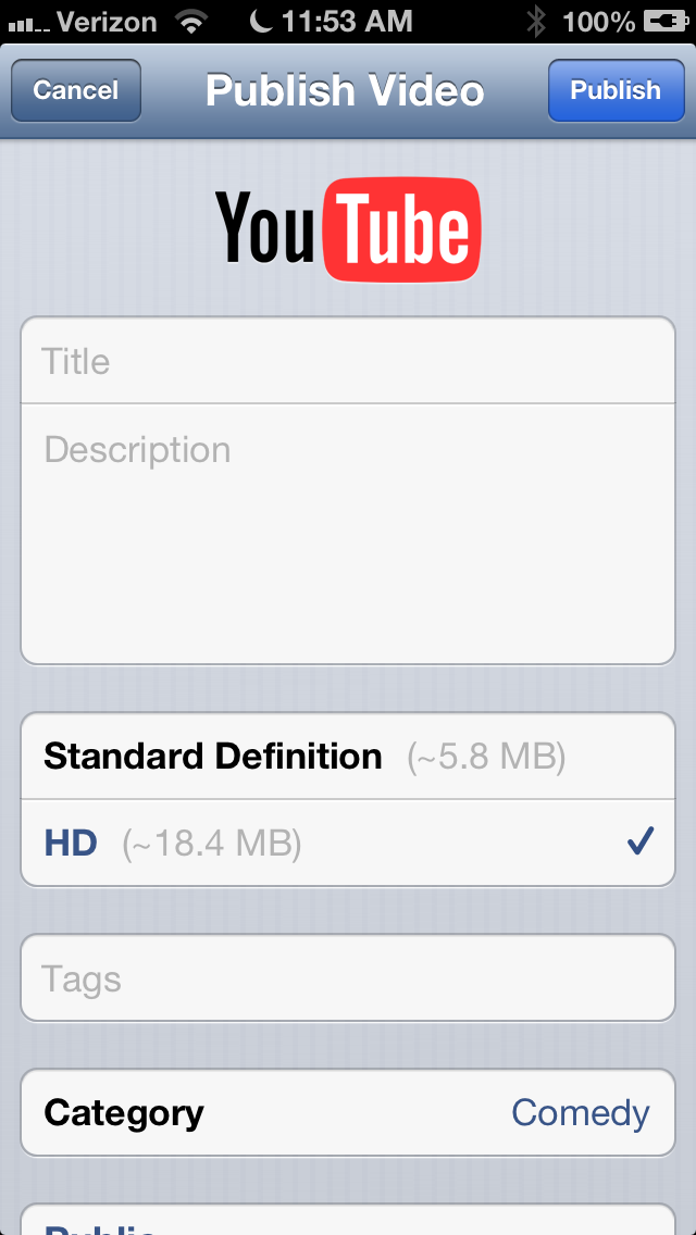 IMG 0711 Googles YouTube Capture app finally brings direct shooting and sharing on iPhone after iOS 6 snub