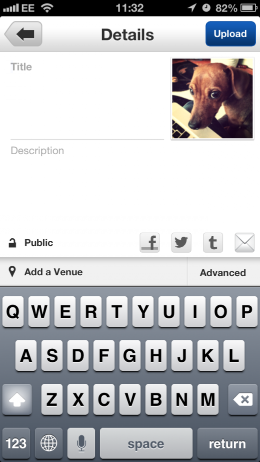 IMG 4737 520x923 Yahoo launches Instagram inspired Flickr iPhone app update, adds simple sign ins, 16 filters and more