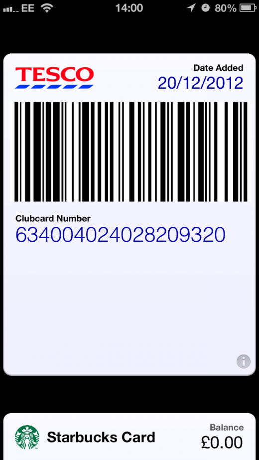 IMG 4806 520x923 Every Little Helps: Tescos Clubcard is now (unofficially) Passbook ready