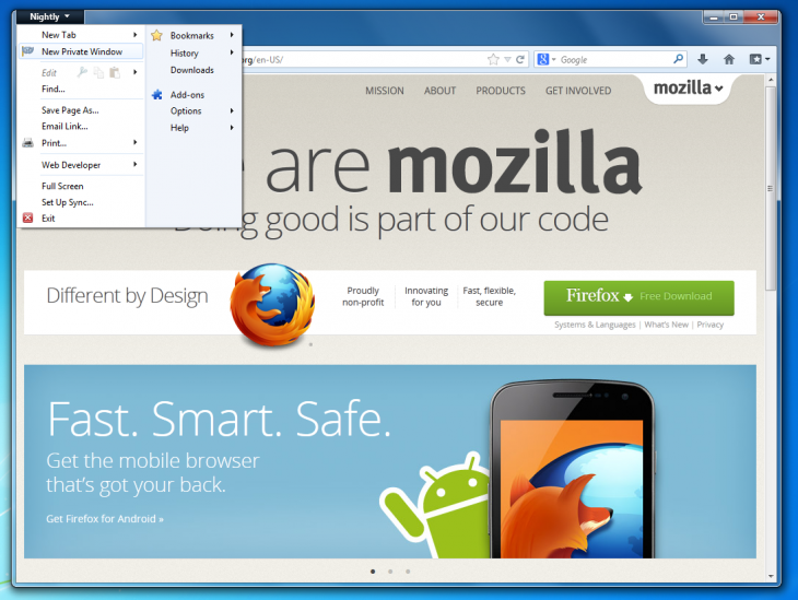 Private Browsing 730x549 Mozilla releases Firefox OS Simulator 1.0, introduces private browsing windows in Nightly build