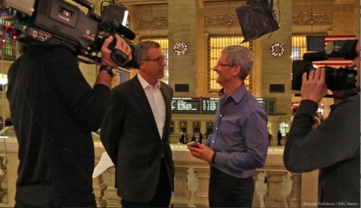 Screen Shot 2012 11 30 at 4.41.30 PM 520x299 Apple CEO Tim Cooks first TV interview is with Brian Williams, to be aired Dec 6th on NBC