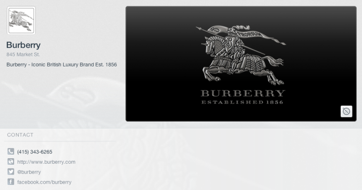 Screen Shot 2012 12 12 at 10.35.41 730x383 Square to announce payment trial with Burberry, its first luxury brand partner
