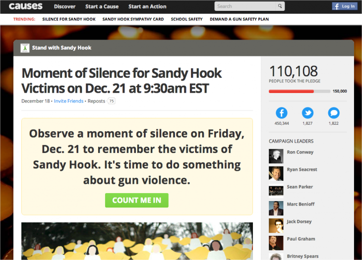 Snap 2012 12 20 at 11.20.05 730x525 Join MC Hammer, Jack Dorsey, and the Internet for a Moment of Silence for Sandy Hook on December 21
