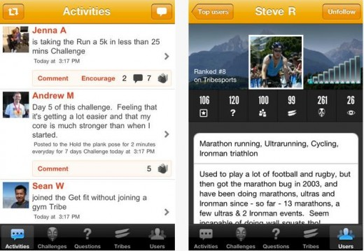Tribesports 520x359 12 health focused apps to help you start 2013 the right way