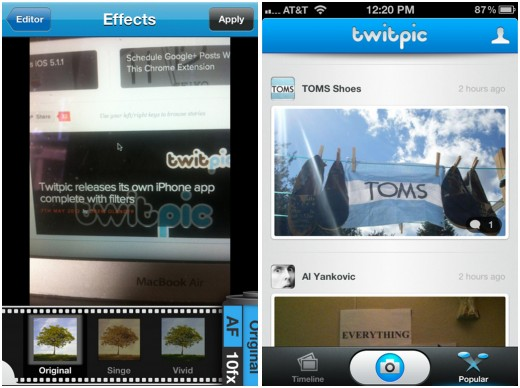 Twitpic 520x388 15 of the best photo, video and camera apps of 2012