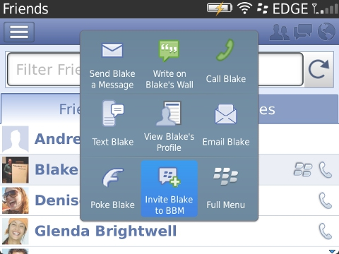 a1 Facebooks BlackBerry app now lets you discover BBM friends and start a BBM chat