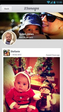 a2 220x391 23snaps takes its private social networking app for families to Android