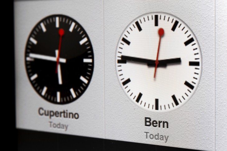 apple swiss clock design via getty images 730x486 2012s biggest tech news in pictures