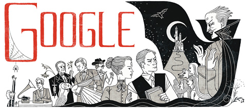 bram stoker 2012 hp Our favorite Google Doodles from 2012