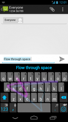 d 220x391 SwiftKey Flow enters beta, bringing its Swype style 'gliding' gesture keyboard to Android