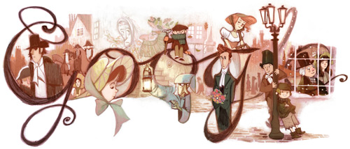 dickens 2012 HP Our favorite Google Doodles from 2012