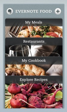food2 ip home 220x368 Evernote Food lands on iPad as iOS app gets new cookbook, recipe features
