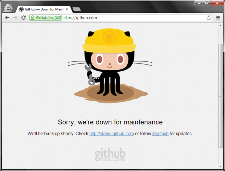 github down 730x554 GitHub confirms major service outage across all its services following scheduled maintenance