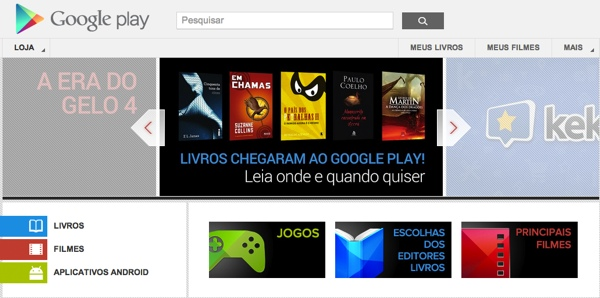 google play books and movies via tecnoblog Google Play rolls out Books and Movies sections in Brazil, competing with Amazon and Apple