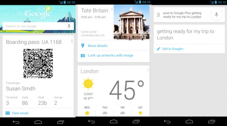 google now update 730x406 Google Now adds travel destination weather, local events, song ID by voice, and more